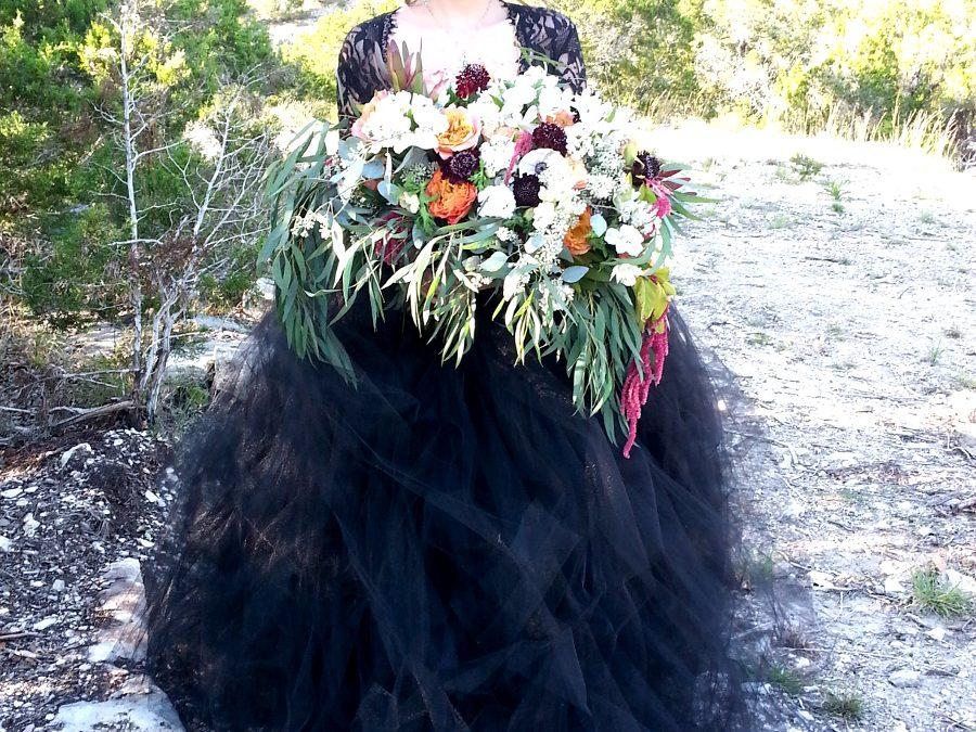 gothic bridal bouquet hill country wedding florist florist flor amor austin