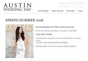 austin wedding day magazine spring/summer 2018