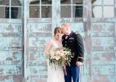 military bride and groom at the union on eighth georgetown texas
