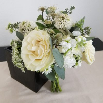 Elegant White Wedding bridesmaid bouquet