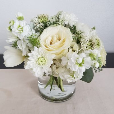 Elegant White Wedding centerpiece
