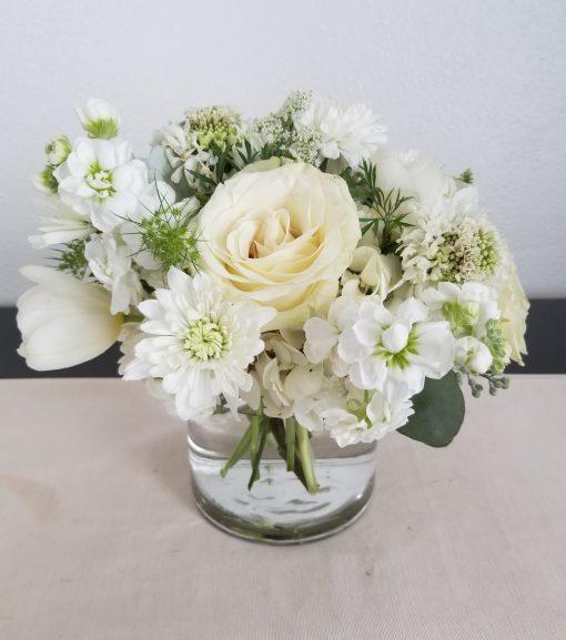 Elegant White Wedding centerpiece