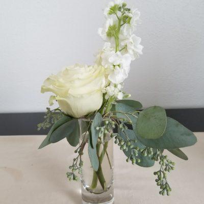 Elegant White Wedding cocktail hour decor