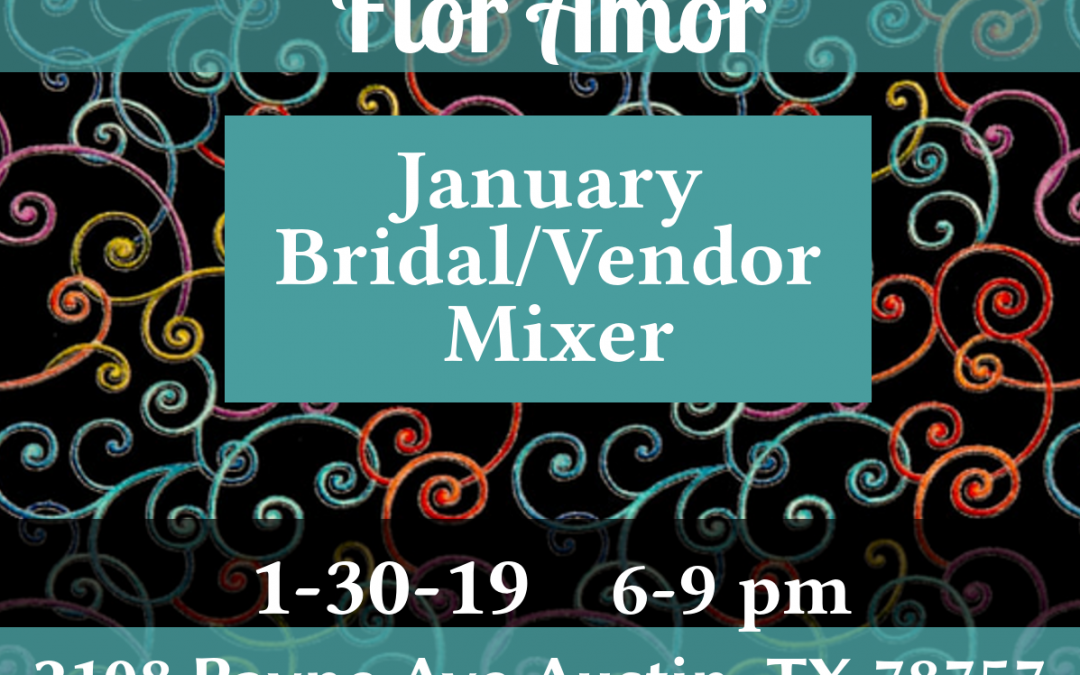 flor amor modern whimsy bridal vendor mixer flyer