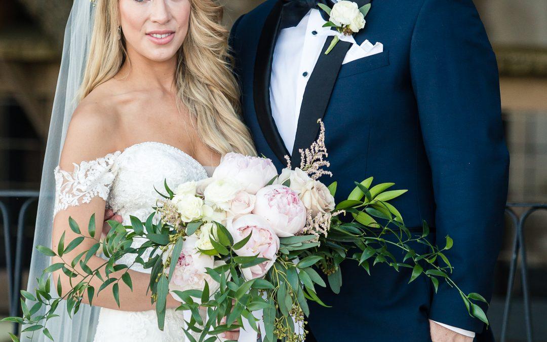 fragrant flowers in a wedding bouquet