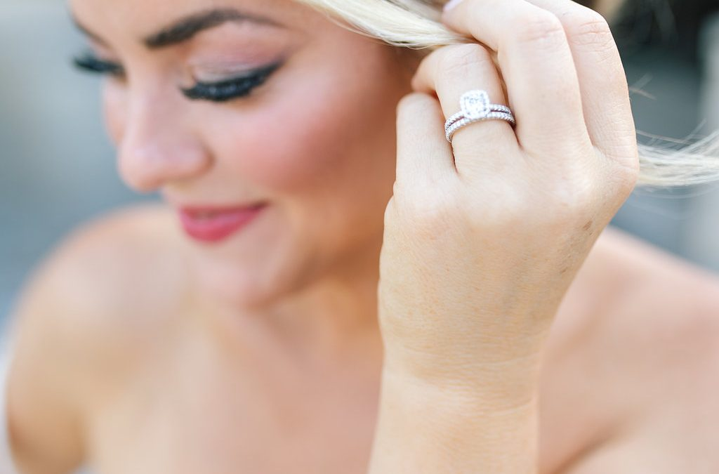 bride and wedding ring