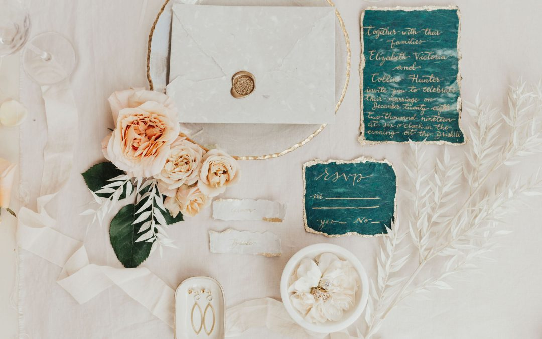 Invitation flat lay Elle Reaux Photography
