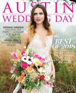 austin wedding day magazine cover