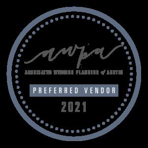 associated wedding planners of austin preferred vendor badge